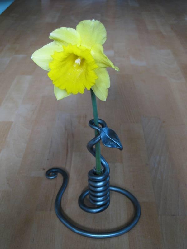 Wrought Iron Single Stem Vase